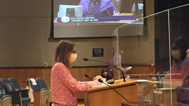 Dr. Jennifer Avegno, Director of the New Orleans Health Department addresses the city council.