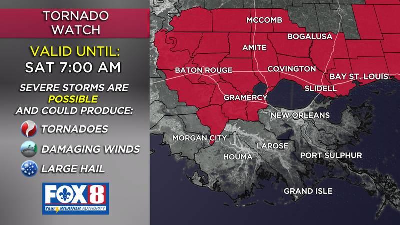 Tornado Watch through 7 a.m.