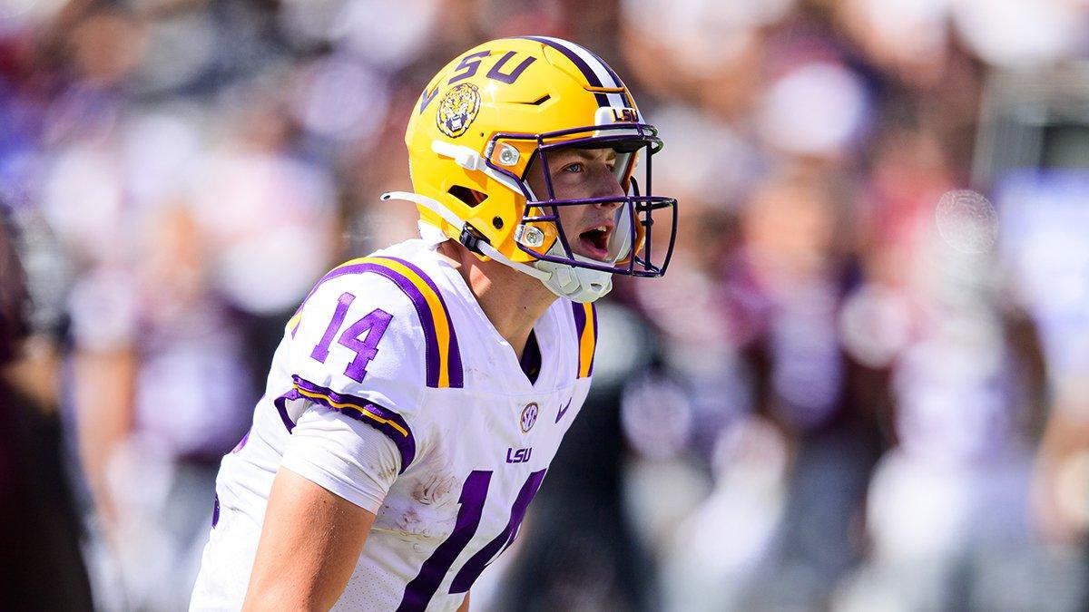 LSU quarterback Max Johnson (14)