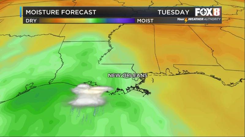 After a fabulous weekend as high pressure moves on to the east we will see more moisture and...