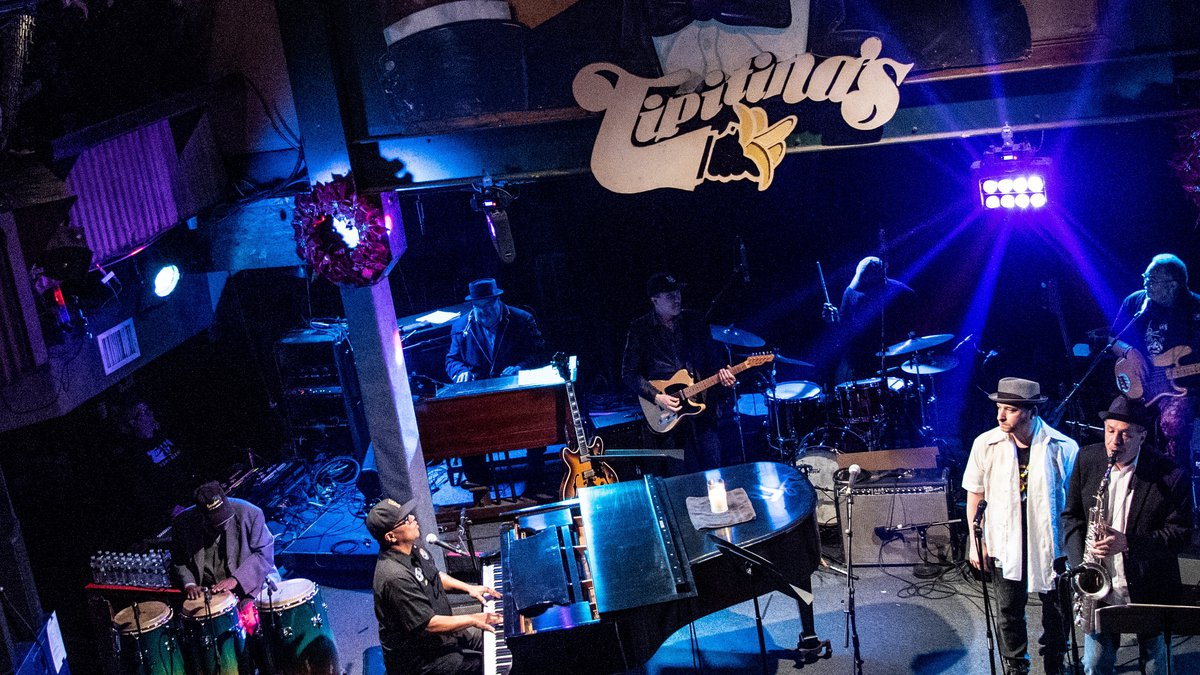 Ivan Neville performs at The Professor Longhair 100th Birthday Tribute Concert at Tipitina's on...
