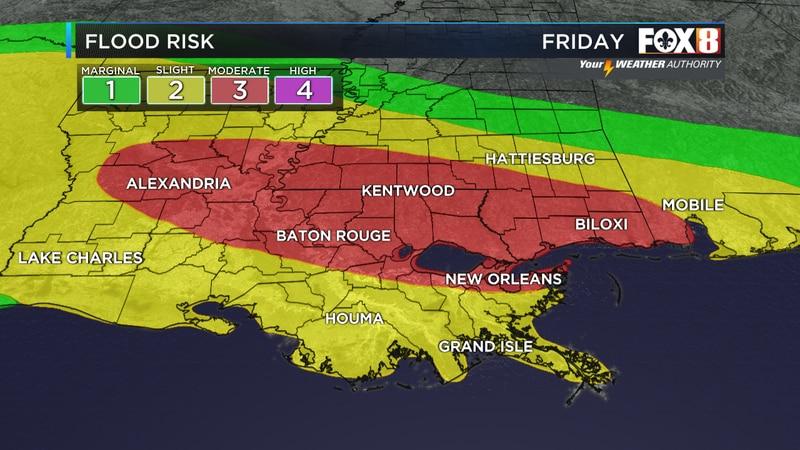 Flood risk today/tonight