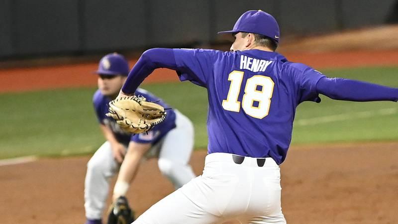 LSU pitcher Cole Henry