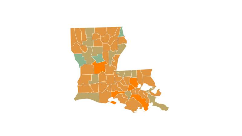 The company Unacast gives Louisiana a D grade for social distancing during the COVID-19 pandemic.