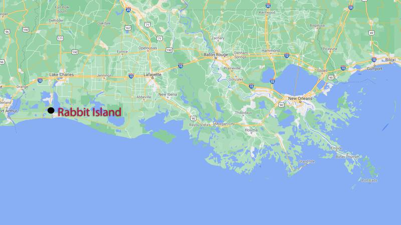 Rabbit Island, site of $16 million coastal restoration project
