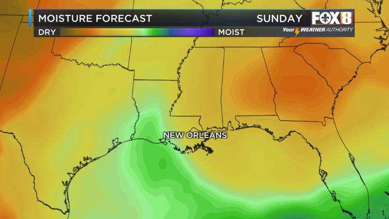 Mostly dry to start the weekend with some moisture around to fuel spotty showers by Sunday...