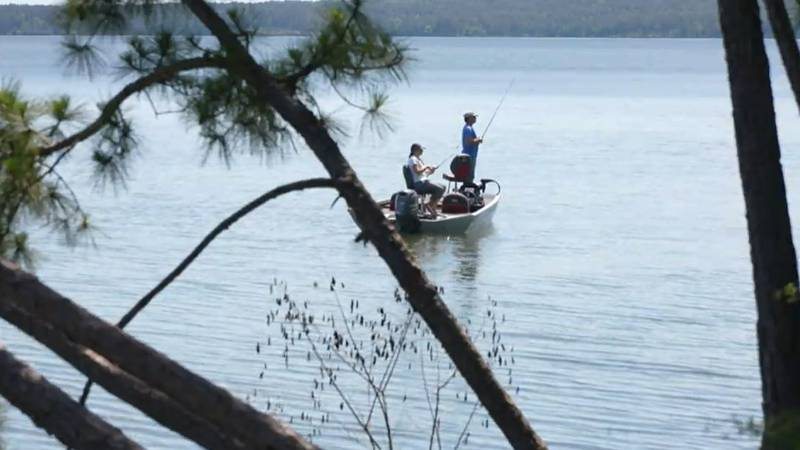 The Toledo Bend Reservoir on the Louisiana-Texas border has two state parks. At the southern...