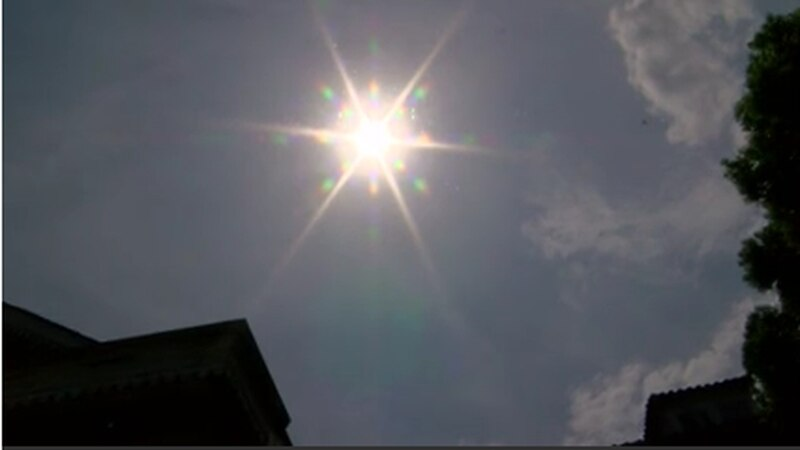 A blazing sun left people in dangerous heat conditions on Monday.