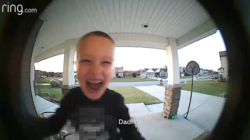 A Michigan boy found a clever way to get help with the TV. (Source: Ring.com)