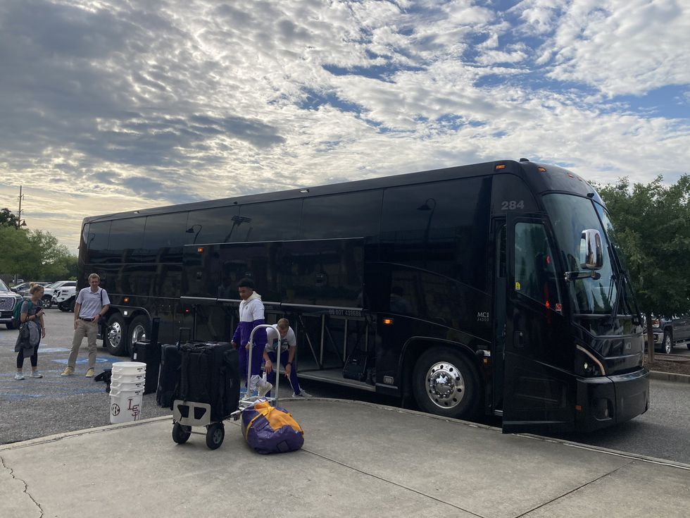 The LSU baseball team departs Baton Rouge, La. for the first round of the NCAA Tournament in...