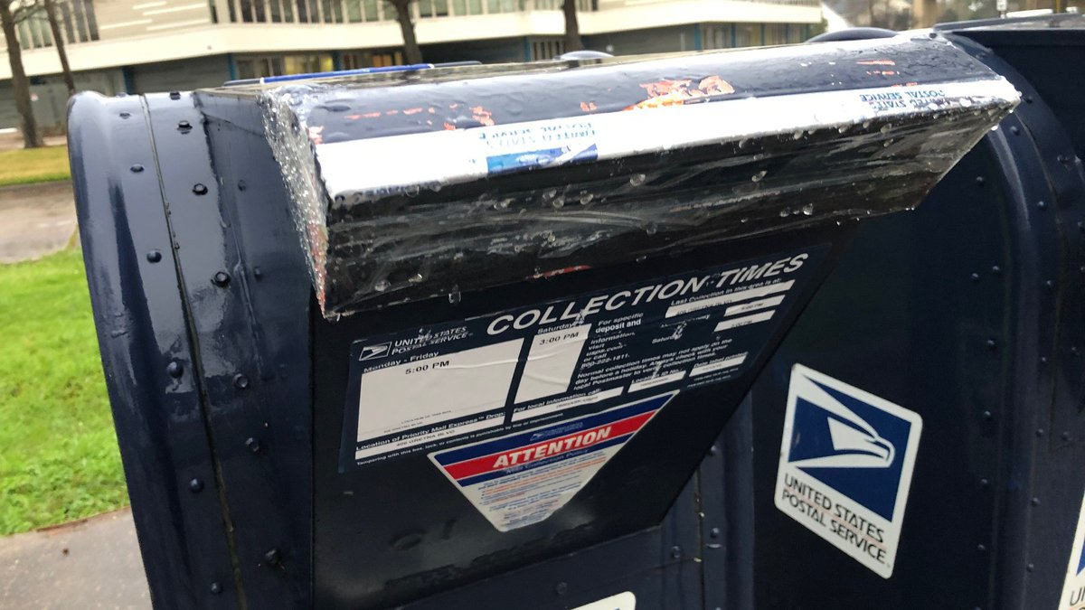 The postmaster has taped mailboxes shut forcing patrons to have to go inside to mail items.