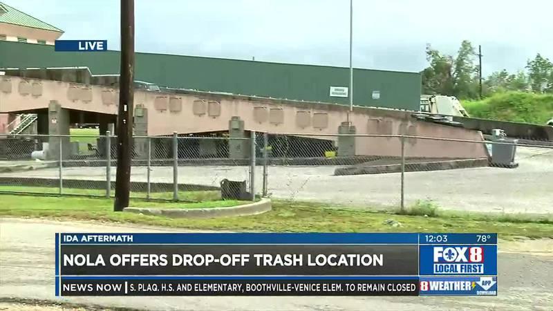 Trash drop-off location