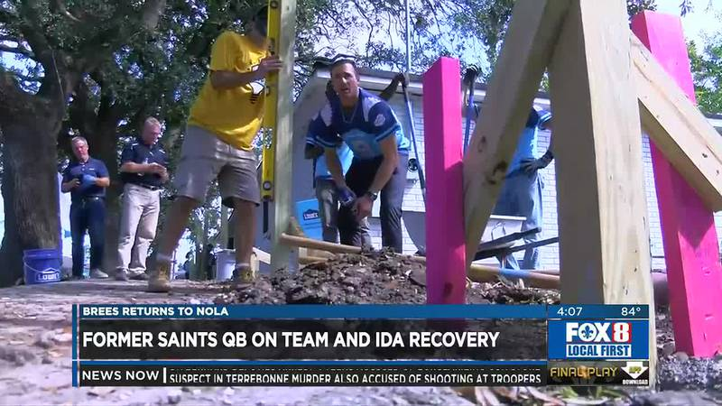 Brees returns to NOLA for Ida recovery
