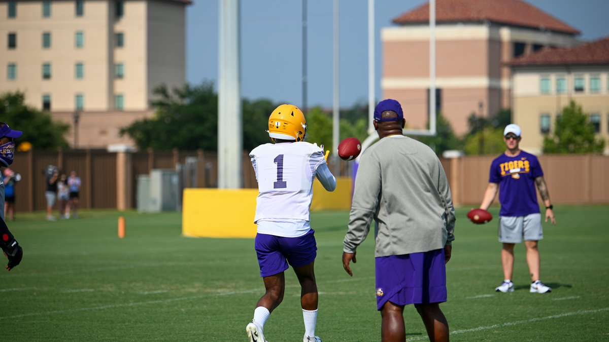 Kayshon Boutte is receiver No. 1 at LSU.
