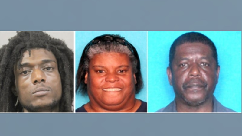 Kentay Lamothe (left) black male, Kimberly Lamothe (middle), and Jules Carter Jr. (right)