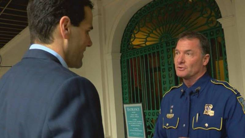 Col. Edmonson during our interview in the French Quarter in early March. (FOX 8)