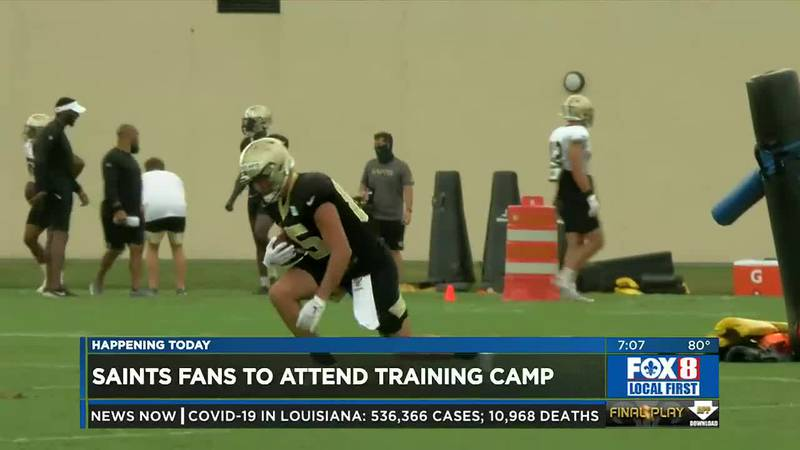 Fans returning to Saints camp