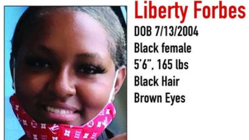 Liberty Forbes, 16, has been reported missing.