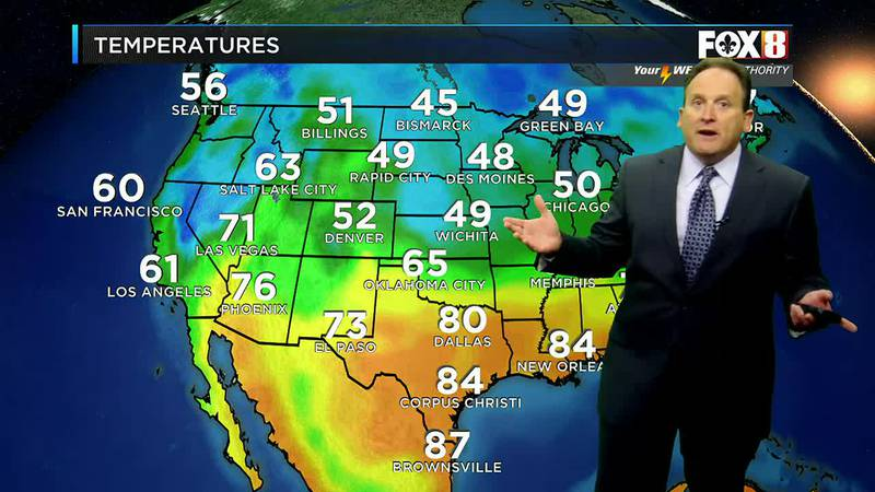Afternoon weather update for Monday, Oct. 25