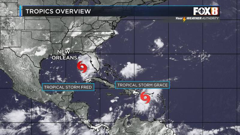 Fred looking more like Florida's problem and Grace following close behind still bears watching.