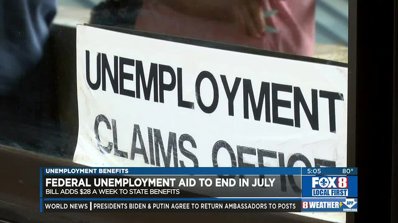 Federal unemployment to end, tropical disturbance latest