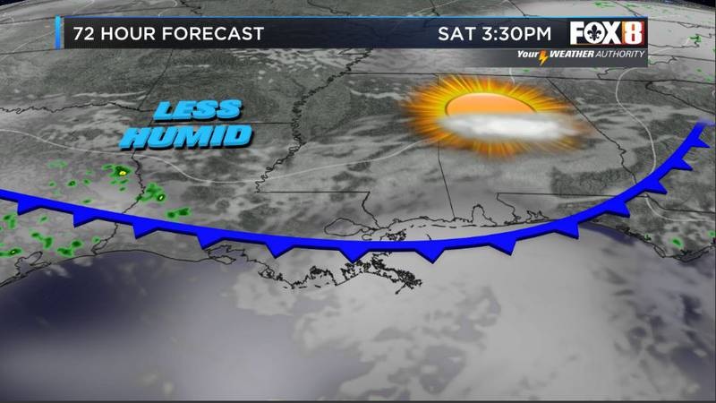 Less humidity on the way
