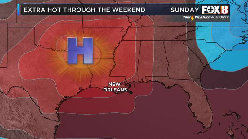 High pressure sits across the region through the end of the weekend.