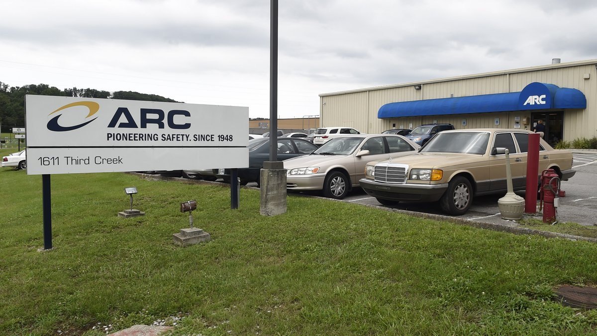 This July 14, 2015, file photo shows the ARC Automotive manufacturing plant in Knoxville, Tenn....