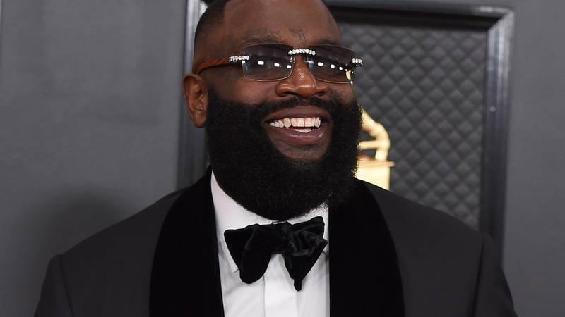 Rick Ross arrives at the 62nd annual Grammy Awards at the Staples Center on Sunday, Jan. 26,...
