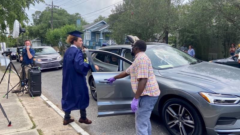 Lusher seniors receive diploma in nontraditional ceremony.