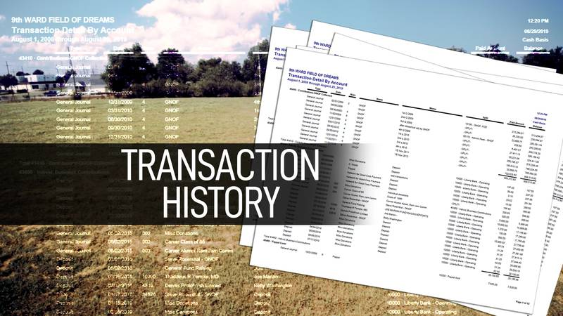 A look at the complete transaction history for the 9th Ward Field of Dreams from 2009-2019.