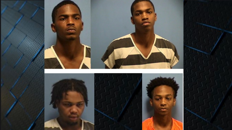 From left to right: Revonte Charles, 20, Jayden Charles, 18, Nicholas Ordogne, 20 and Jawaun...