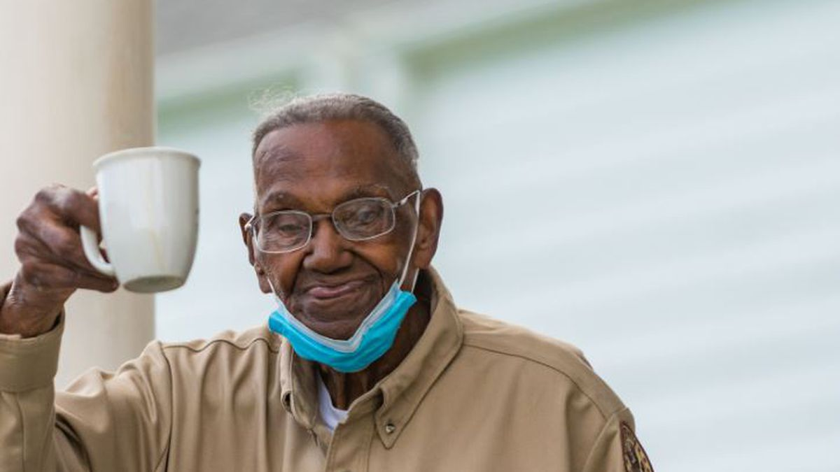 World War II veteran Lawrence Brooks was honored at his home with plane flyovers, a socially...