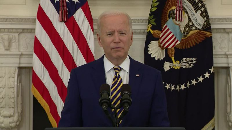 President Biden touts the U.S. reaching 300-million Covid vaccines administered in 150 days...