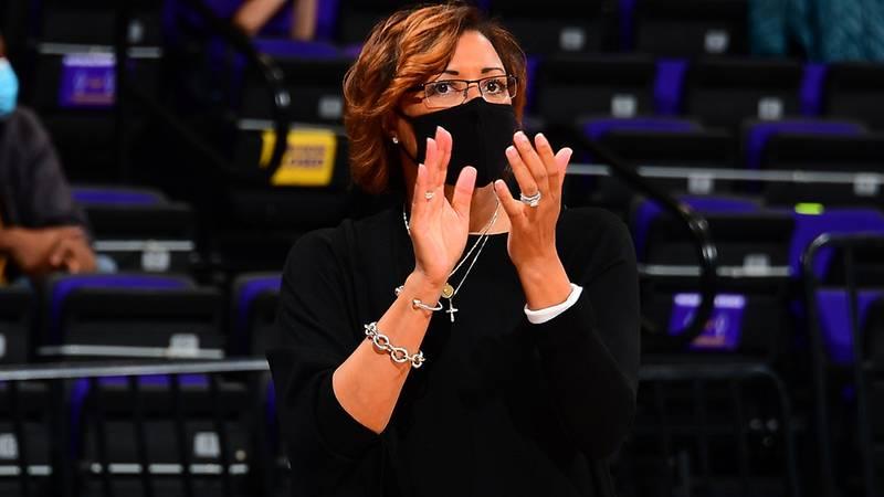 LSU head coach Nikki Fargas