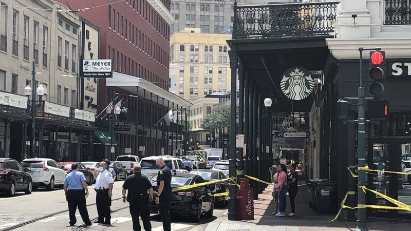 New Orleans Police are on the scene of a shooting near the intersection of St. Charles Avenue...