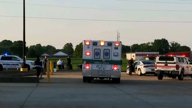 A man set himself on fire outside Walmart in Athens on May 16, 2019.