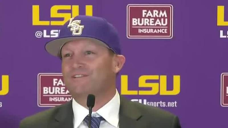 Jay Johnson was introduced Monday as LSU's new head baseball coach.