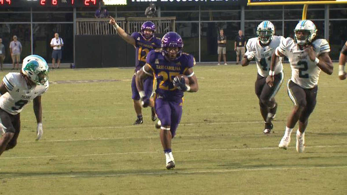 ECU football rolled to a huge homecoming win to open conference play. 52-29 over Tulane.