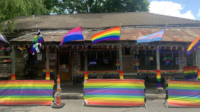 Krewe of Pride House Floats have started popping up in New Orleans.
