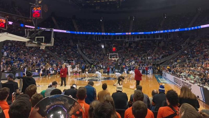 Auburn vs. Kentucky in Elite 8 in Kansas City, Missouri.