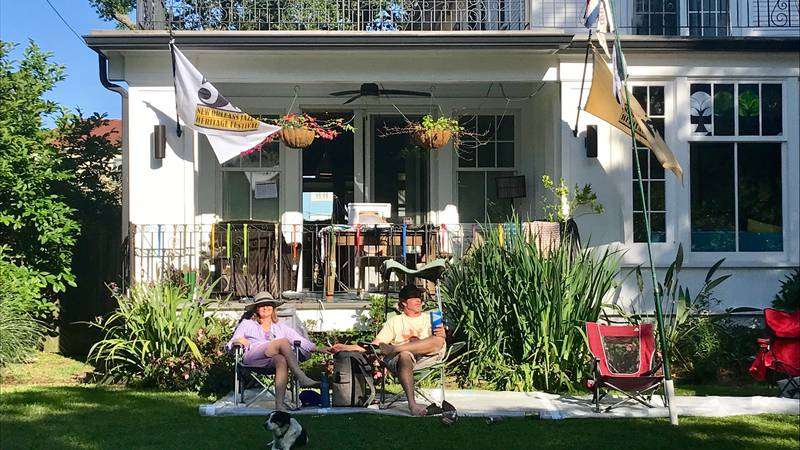 New Orleans locals are finding ways to celebrate despite the cancellation of one of the biggest...
