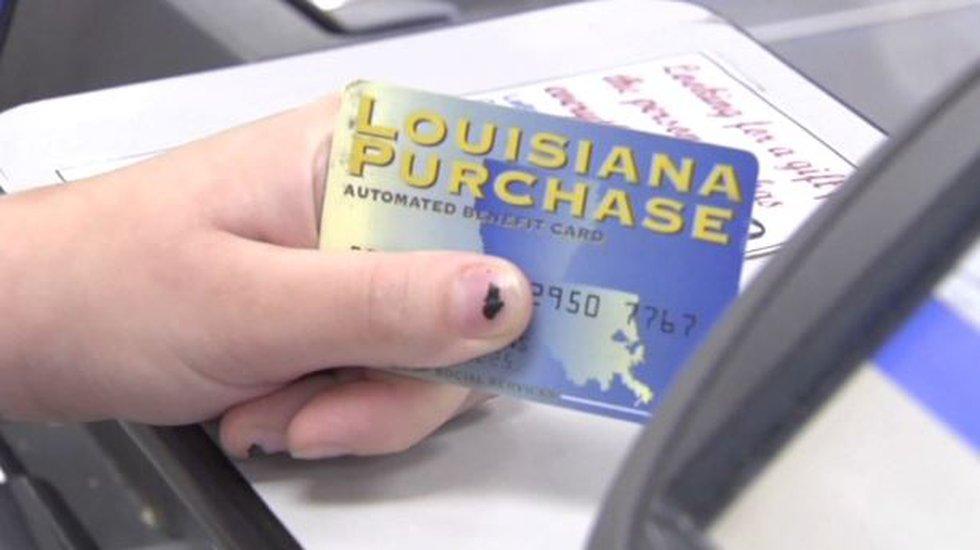 Louisiana food stamp card.