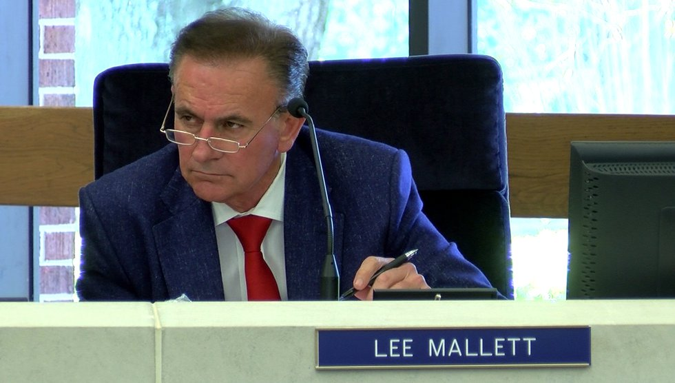 Lee Mallett, seen at a Louisiana State University Board of Supervisors meeting on March 20, 2019.