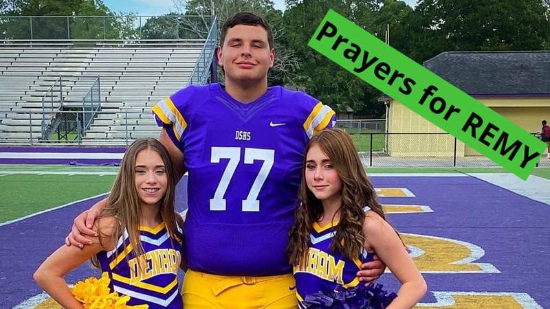 Remy Hidalgo, a junior offensive lineman at Denham Springs High School, reportedly suffered a...