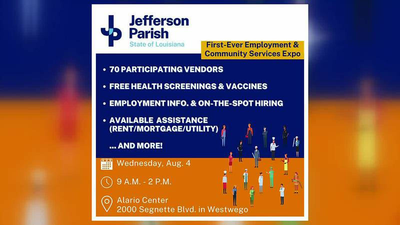 Jeff. Parish employment and community services expo