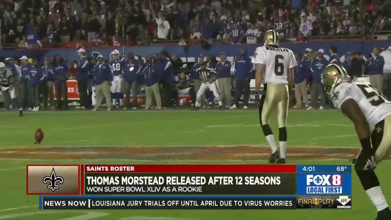 Saints release punter Thomas Morstead