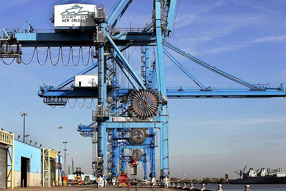 Massive cranes at the Port of New Orleans (File/AP)