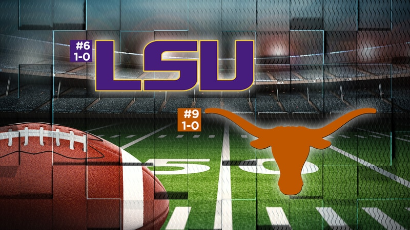 The #6 LSU Tigers will take on the #9 Texas Longhorns at 6:30 p.m. on Saturday, Sept. 7 at...