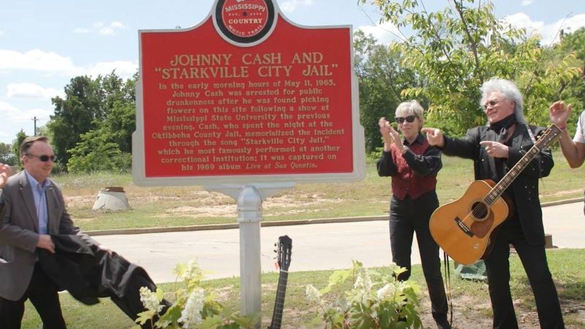 Johnny Cash music marker in Starkville
